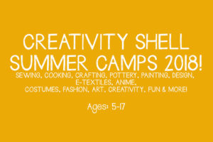 Creativity Shell Summer Camps 2018!
