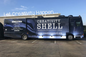 Creativity Shell's Jerry the Bus Wins Let Creativity Happen Grant – Will be Sewing in the Streets!